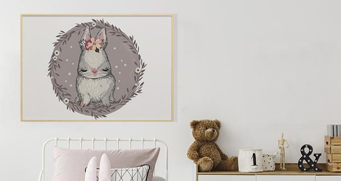 Poster Tier für das Kinderzimmer