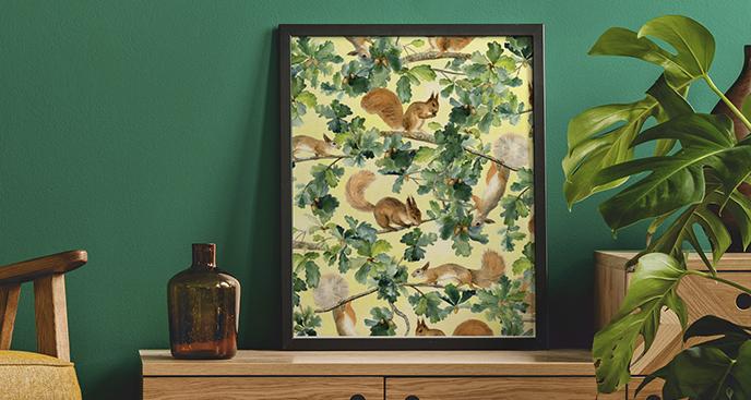 Poster Tiere: Eichhörnchen