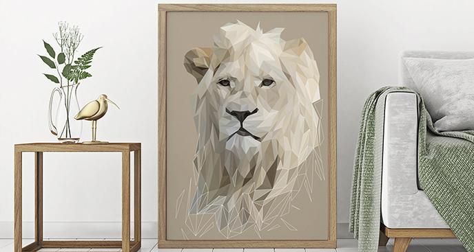 Poster Tiere - Löwe