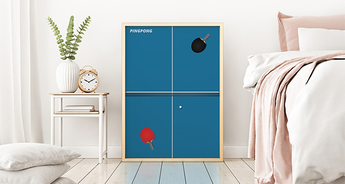 Poster Tischtennis