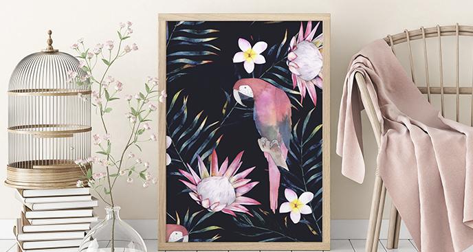 Poster tropische Tiere