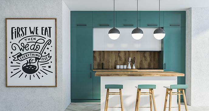 Poster Typografie für die Küche