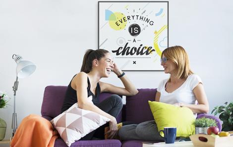Poster Typografie fürs Wohnzimmer