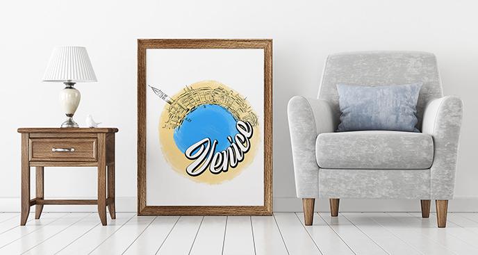 Poster Venedig fürs Wohnzimmer
