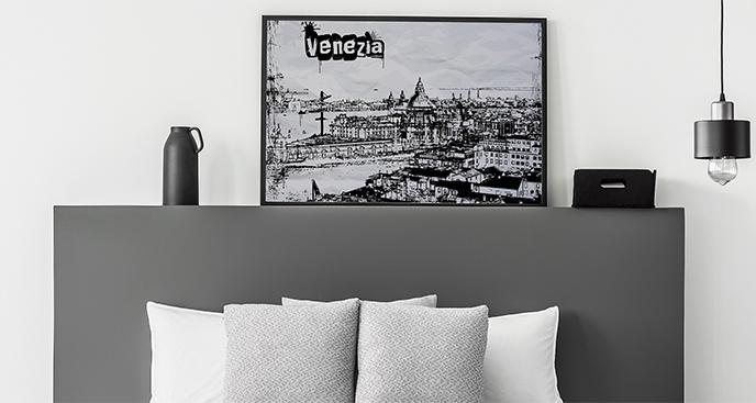 Poster Venedig im Vintage-Stil