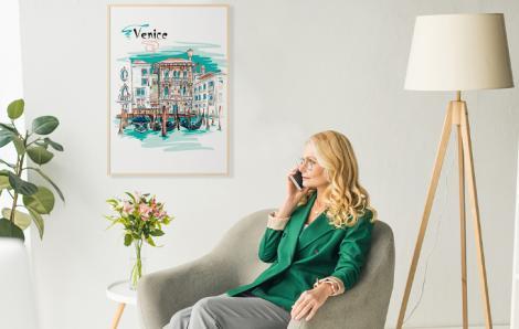 Poster Venedig in Aquarell