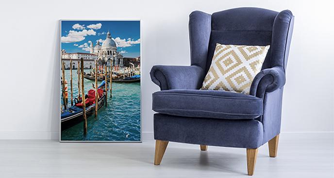 Poster Venedig mit Blick auf den Kanal