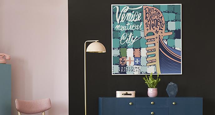 Poster Venedig mit Inschriften