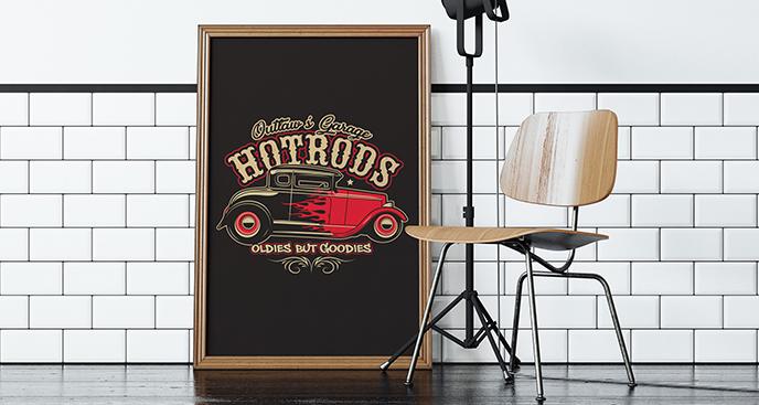 Poster Wagen Hot Rod