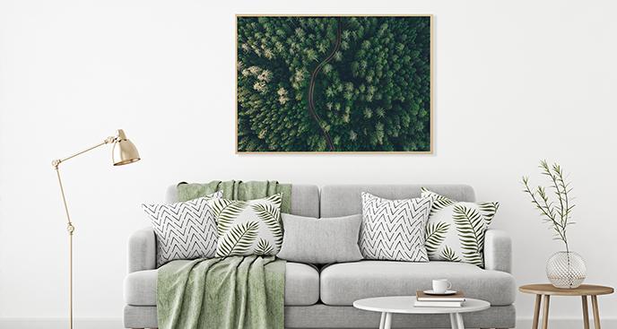 Poster Wald aus der Vogelperspektive