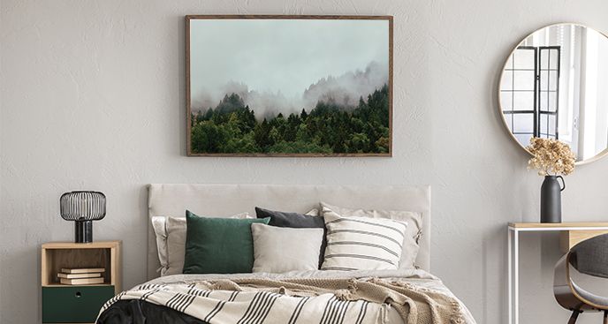 Poster Wald im Nebel
