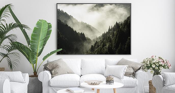 Poster Wald in den Bergen