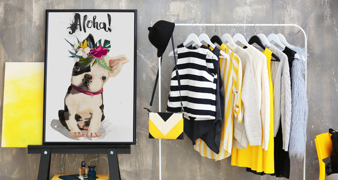 Poster Welpe Bulldogge