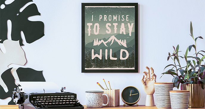 Poster Wildnis