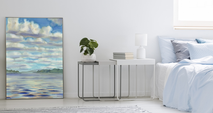 Poster Wolken in Aquarell