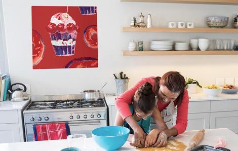 Retro-Bild von Süßigkeiten zur Küche