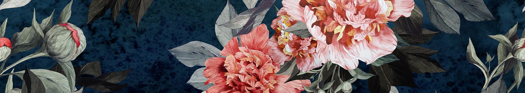 Romantische Blumen Fototapete