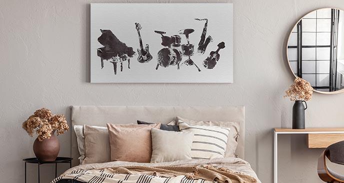 Schwarz-Weiß-Bild Musik