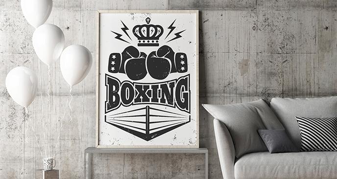 Schwarz-Weiß-Poster Boxen