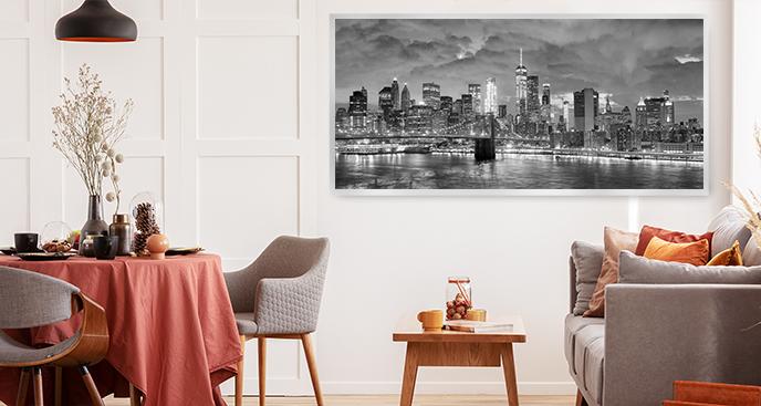 Schwarz-Weiß-Poster New York
