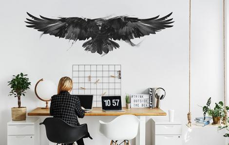 Schwarzer Vogel Sticker