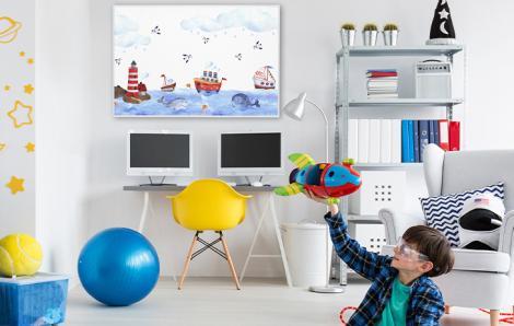 Seeplakat für ein Kinderzimmer