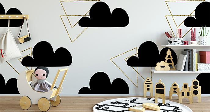 Sticker für Kinder Wolken und Dreiecke