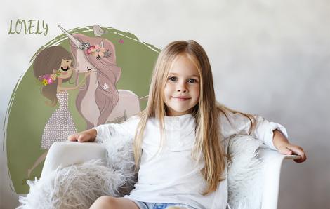 Sticker fürs Kinderzimmer mit Einhorn