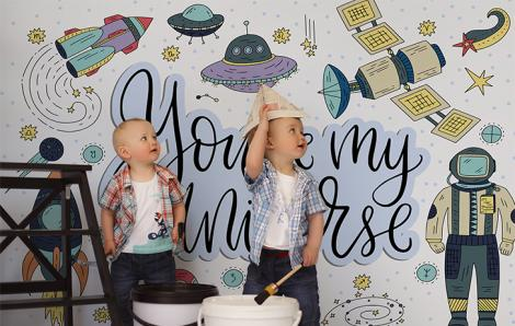 Sticker fürs Kinderzimmer mit Raumschiff