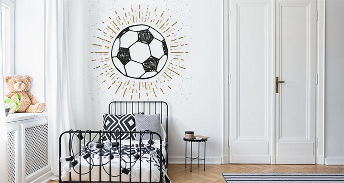 Sticker Fußball im Retro-Stil