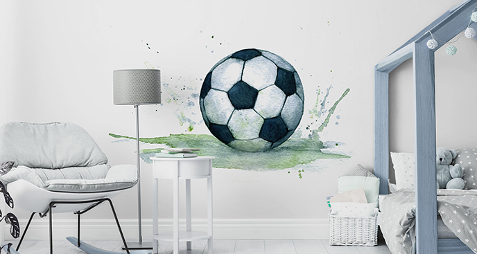 Sticker Fußball in Aquarell