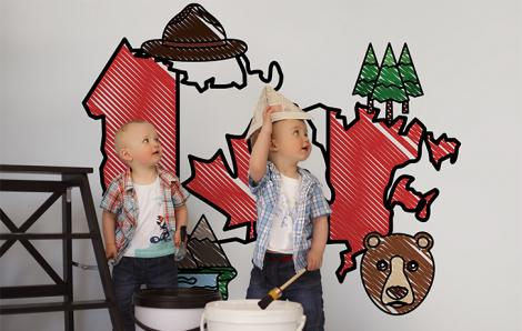 Sticker Karte für Kinderzimmer