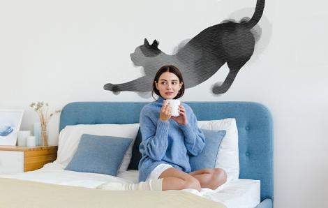 Sticker Katze im minimalistischen Stil