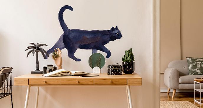 Sticker Katze in Aquarell