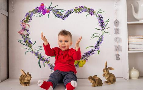Sticker Lavendelherz
