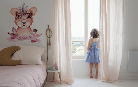 Sticker Löwe mit Federbusch für Kinder