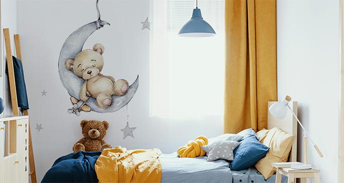 Sticker mit einem Teddybären