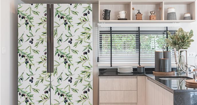 Sticker mit Oliven für die Küche