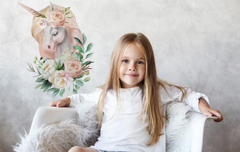 Sticker Pferd und Blumen