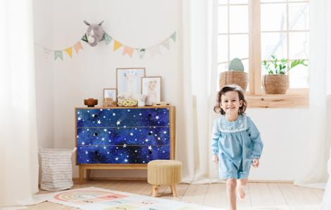 Sticker Sterne am Nachthimmel