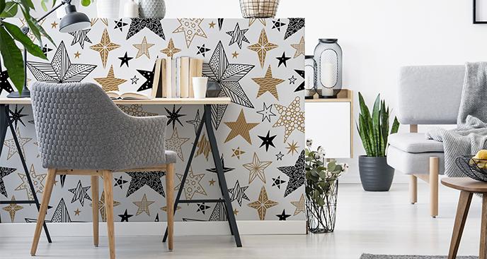 Sticker Sterne im Glamour-Stil