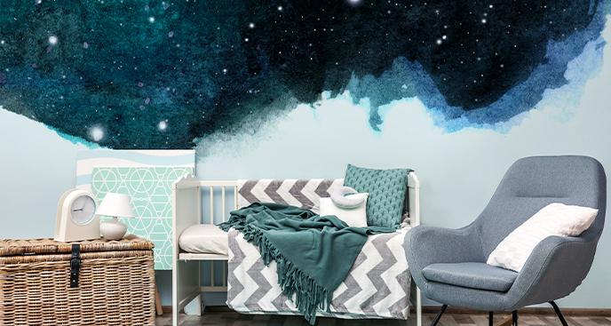 Sticker Sterne und Nacht