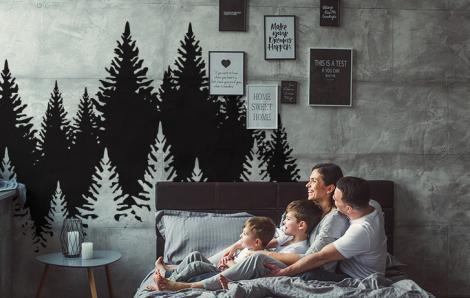 Sticker Wald fürs Schlafzimmer