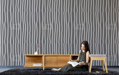 Tapete Streifen fürs Wohnzimmer