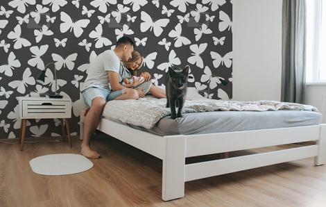 Tapete Tiere fürs Wohnzimmer