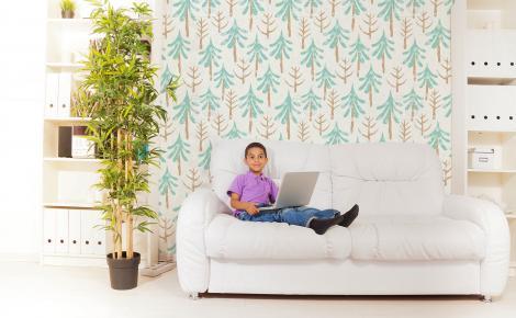 Tapete Wald für Wohnzimmer