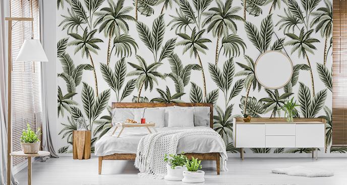 Tropische Tapete im Vintage-Stil