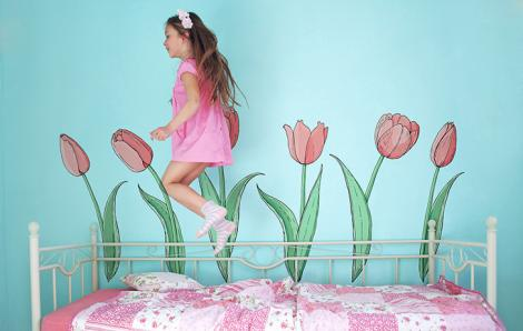 Tulpen Sticker - Zeichnung