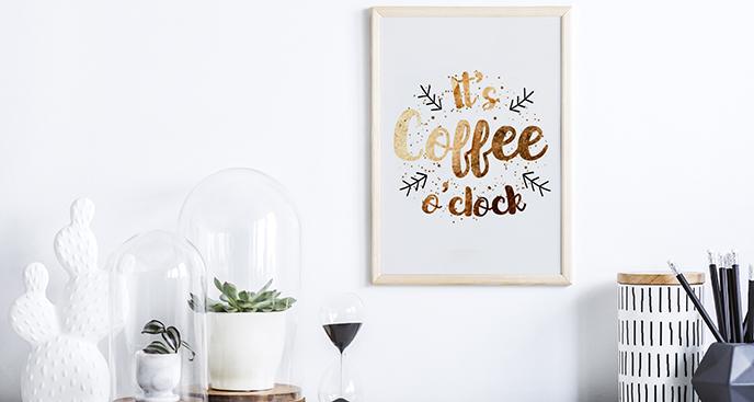Typografisches Poster für Kaffeeliebhaber