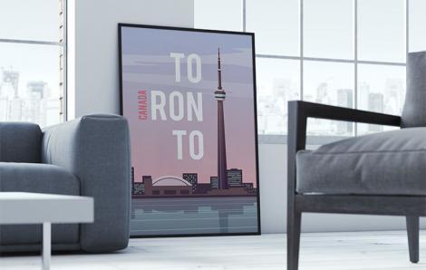 Typografisches Poster für das Wohnzimmer